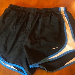Black/Blue Nike Tempo Shorts